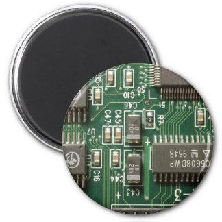 Circuit Board Design 2 Inch Round Magnet