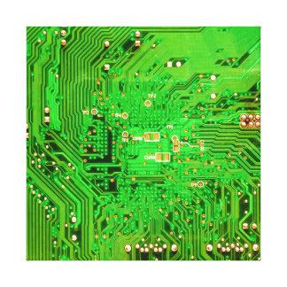 Circuit Board Design Canvas Print