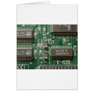 Circuit Board Design Greeting Card