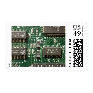 Circuit Board Design Postage Stamp