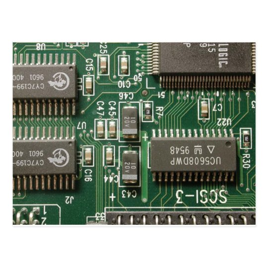 Circuit Board Design Postcard