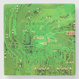Circuit Board Design Stone Coaster