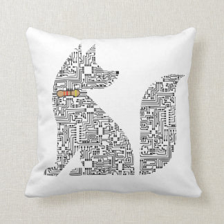 Circuit Board Dog illustration Pillow