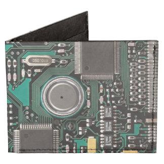 Circuit board tyvek® billfold wallet