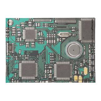 Circuit board tyvek® card case wallet