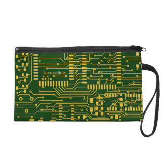 Circuit Board Geek Bagettes Bag Wristlet Purse