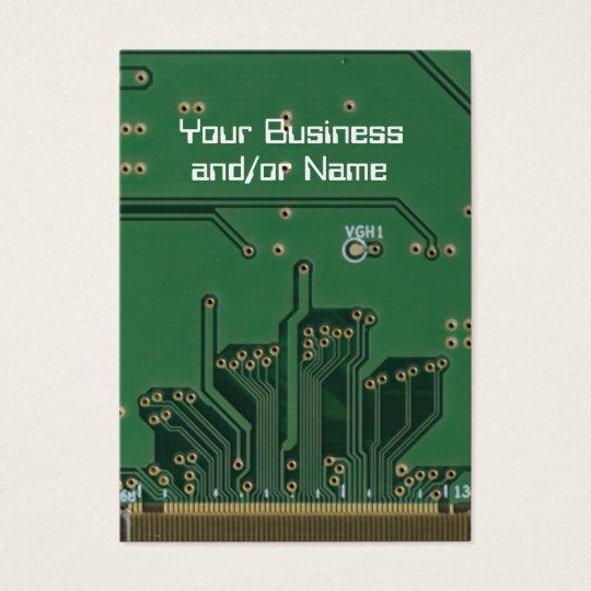 Circuit board geek business card