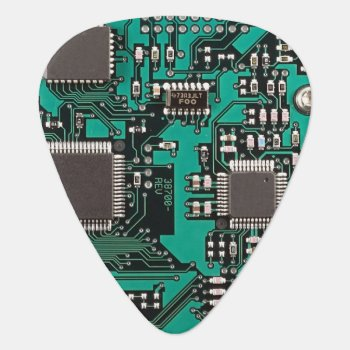 Circuit Board Guitar Pick by jahwil at Zazzle