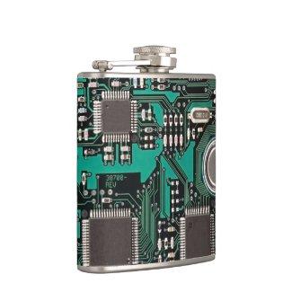Circuit board hip flasks