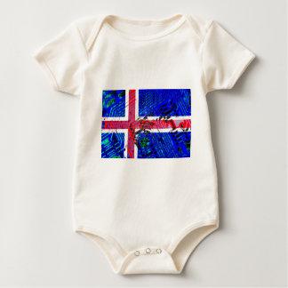 circuit board iceland (Flag) Baby Bodysuit