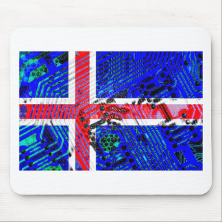 circuit board iceland (Flag) Mouse Pad