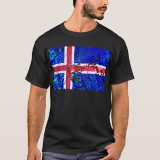 circuit board iceland (Flag) T-Shirt