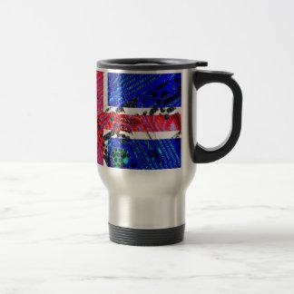 circuit board iceland (Flag) Travel Mug