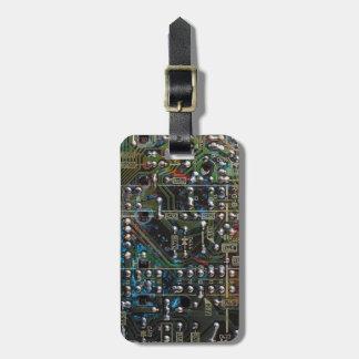 Circuit Board Travel Bag Tags