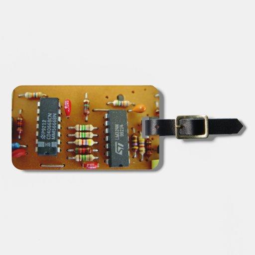 Circuit board luggage tags