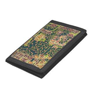 Circuit Board Macro Photo Tri-fold Wallet