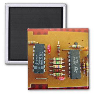 Circuit board refrigerator magnets