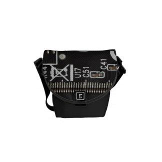 Circuit Board Messenger Bags