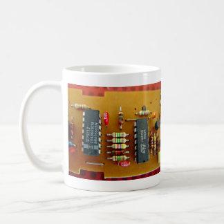 Circuit board classic white coffee mug