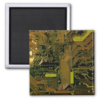 Circuit Board Pattern 1 Fridge Magnets