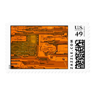 Circuit Board Pattern 5 Postage