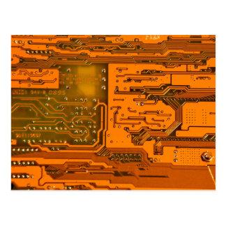 Circuit Board Pattern 5 Postcard