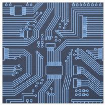 Circuit Board Pattern Blue ID245 Fabric