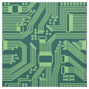 Circuit Board Fabric | Zazzle