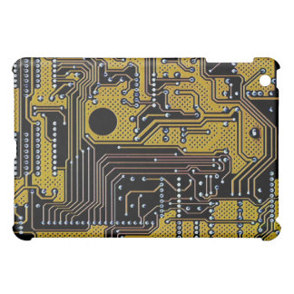 circuit board (pcb) - gold color iPad mini case