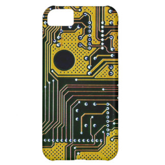 Circuit board (pcb) - gold color iPhone 5C cover