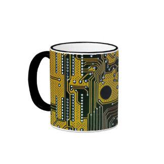 circuit board (pcb)- gold color mugs