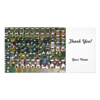 Circuit Board Custom Photo Card