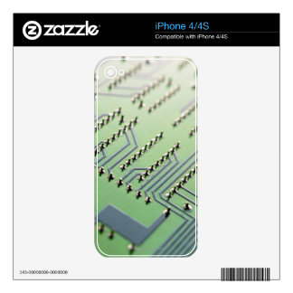 Circuit board photographed close up. The Decal For iPhone 4