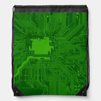 Circuit Board Drawstring Backpacks