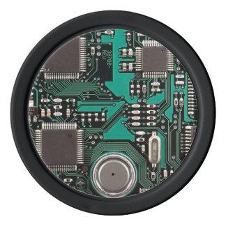 Circuit board poker chips set
