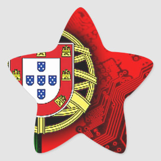 circuit board Portugal (Flag) Stickers