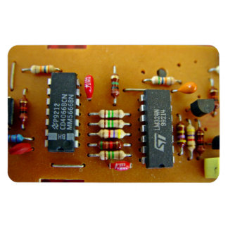 Circuit board rectangular magnet