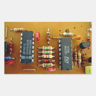 Circuit board rectangle sticker