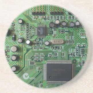 Circuit Board Sandstone Coaster
