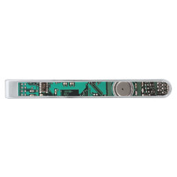 Circuit board silver finish tie clip