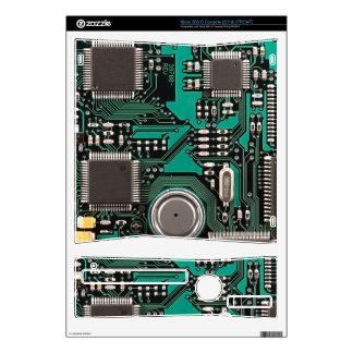 Circuit board xbox 360 s console decal