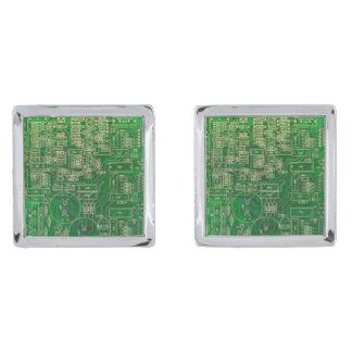 Circuit Board Square Cufflinks