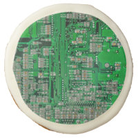 Circuit Board Sugar Cookie