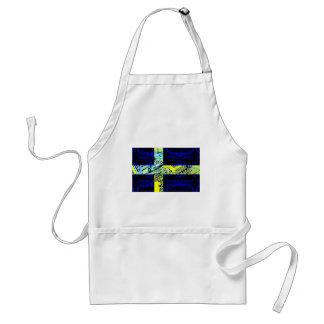 circuit board Sweden (Flag) Adult Apron