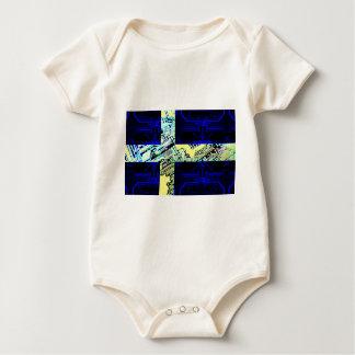 circuit board Sweden (Flag) Baby Bodysuit