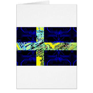 circuit board Sweden (Flag) Card
