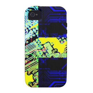 circuit board Sweden Flag iPhone 4/4S Cover