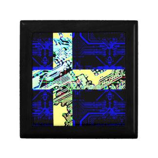 circuit board Sweden (Flag) Keepsake Box