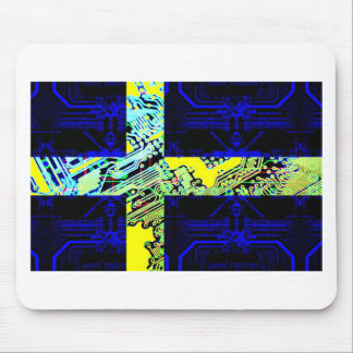circuit board Sweden (Flag) Mouse Pad