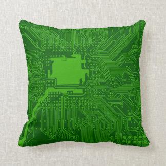 Circuit Board Throw Pillow
